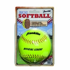 Franklin Sports Synthetic Cover Practice Softball - http://www.closeoutball.com/softball-closeout-sale-discount-free-shipping/franklin-sports-synthetic-cover-practice-softball/