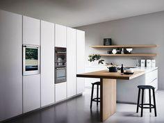 Einbauküche mit Kücheninsel MAXIMA 2.2 - COMPOSITION 3 by Cesar Arredamenti Design Gian Vittorio Plazzogna