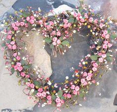 pink heart wreath <3