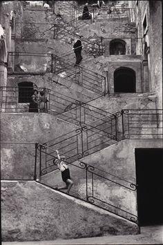 Italian Vintage Photographs ~ René Burri, Leonforte Sicily, Italy, 1956 #Italy #Italian #vintage #photographs #family #history #culture