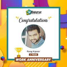 Congratulations👍 and Happy Work Anniversary Mr Parag. We are grateful for your contribution to our organization. . Wishing you a happy work anniversary. . #1year #workanniversary #anniversary #years #congratulations #employeeanniversary #workcelebration   #yearanniversary #journey #workfun #entrepreneur #weloveourjob #webguruz #India