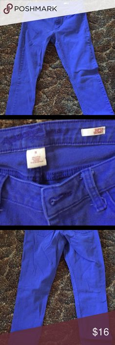 Arizona Super Skinny Jeans Excellent used condition. Love the color! A mixture of blue and purple. 95% cotton 2% spandex . Made in Vietnam Arizona Jean Company Jeans Skinny