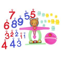 Amazon.com: Colorful Plastic Bear Balance Scale with Weights Numbers Children Educational Toy: Toys & Games $10.11