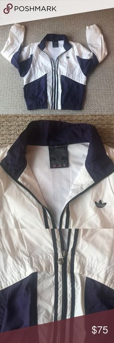 Adidas Retro Vintage Windbreaker Jacket Vintage / Retro / VTG Very good condition. Gorgeous contrasting purple and eggshell color. Very flattering. Any questions please ask :) open to offers adidas Jackets & Coats