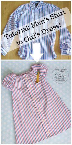 Dad To Be Shirts, Shirts For Girls, Men Shirts, Peasant Dress Patterns, Peasant Dresses, Baby Dresses, Pillowcase Dress Pattern, Toddler Dress Patterns, Shirt Dress Pattern