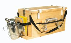 "Perfect box for keeping beekeeping tools organized, and an easy way to ""hold"" a hot smoker."
