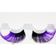 $1.99 1 Pair Classical Purple Long Curly False Eyelash For Beauty Party/Stage Eye Makeup - BornPrettyStore.com