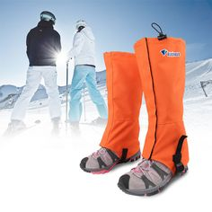 Specification: Material:600D Oxford Fabric Color:Black,Green,Orange,Blue Size:M,L Description: Hiking Gaiter Hook Design. Breathable waterproof fabric. Advantages:Windproof, Waterproof, Keep Warm, San