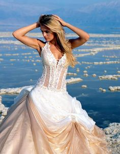 see through corset wedding dresses
