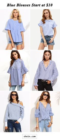 Blue blouses start at $10