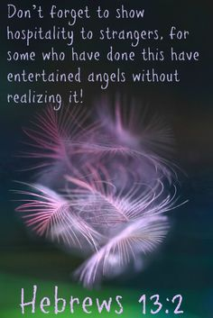 Image result for bible verse about entertaining angels