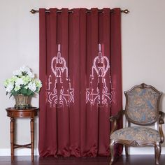 Best Home Fashion, Inc. Chandelier Punch Out Room Darkening Curtain Panels Color: