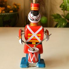 Cheap toys retro, Buy Quality clockwork toy directly from China classic toys Suppliers: Marching Band Robot Classic Toys Play The Drums Tin Clockwork Toy Retro Adult Collection Gift Classic Toys, Retro Design, Fun Games, Tin, Drums, Robot, Play, Gifts, Colorful