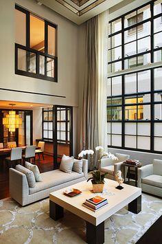 Manhattan Tribeca Triplex contemporary living room