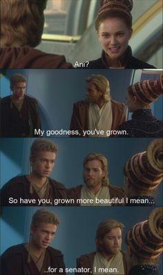 "Obi-Wan on the background like ""Oh Not this again Anakin"""