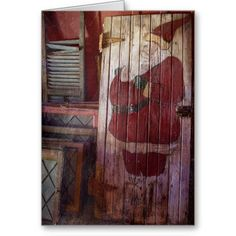 Primitive Santa Claus Card
