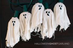 diy halloween ghost garland