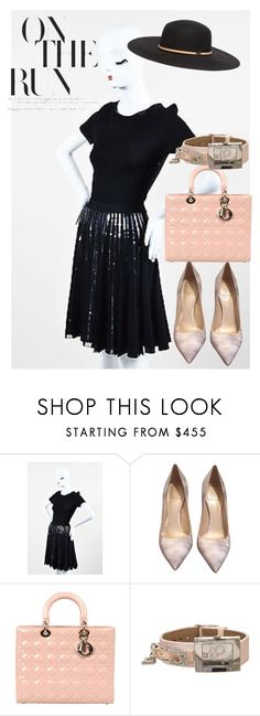 """""""dress"""" by masayuki4499 ❤ liked on Polyvore featuring Christian Dior and Gucci"""
