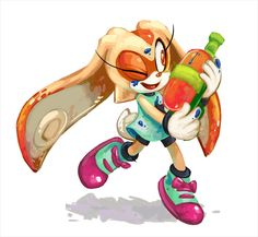 Cream in Splatoon ~ So cutee ! Sonic The Hedgehog, Silver The Hedgehog, Nintendo Characters, Video Game Characters, Cream Sonic, Sonic Funny, Sonic Satam, Big The Cat, Sonic Franchise
