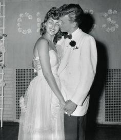 Prom date, 1953 http://www.pinterest.com/leingshe/vintage-prom/ & Prom king and queen. http://www.pinterest.com/ccsyfi/celebrations/
