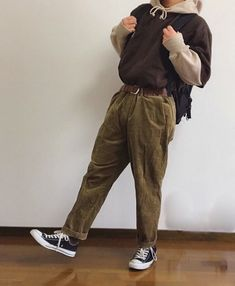 Brown is a cool color😎 Aesthetic Fashion, Aesthetic Clothes, Urban Fashion, Boy Fashion, Fashion Outfits, Indie Fashion Men, Stylish Outfits, Vintage Outfits, Retro Outfits