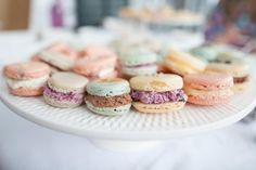 Give macarons as wedding favors! Sarah Darling saved money and used her baking skills for these wedding favors. >> http://www.greatamericancountry.com/living/lifestyles/sarah-darlings-rustic-bohemian-wedding-pictures?soc=pinterest