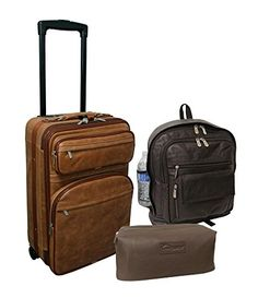 Amerileather Century 3Piece Luggage Set  MultiColored ** You can get more details by clicking on the image.