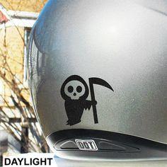 Litttle Death Hyper Reflective Decal / Motorcycle Helmet Safety Sticker / Reflective Death Decal #115R