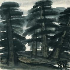 Lin Fengmian (1900 - 1991) Woodcutters in the Pine Forest, 1950