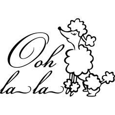 <li>Title: Ooh la la Poodle Paris</li><li>Colors: Black</li><li>Materials: Vinyl</li>