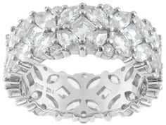 Bella Luce (R) 10.50ctw Square, Marquise And Round Rhodium Plated Sterling Silver Ring