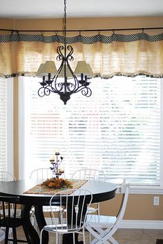 Burlap Curtains With Polka Dot Fabric At Top I Dont Really Care For The Short