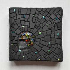 Unglazed porcelain, smalti, glass chunk (2014)-Julie Sperling