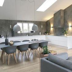 Interior Living Room Design Trends for 2019 - Interior Design Living Room Kitchen, Kitchen Interior, Interior Design Living Room, Living Room Decor, Kitchen Decor, Gray Interior, Open Plan Kitchen, Küchen Design, Dining Room Design