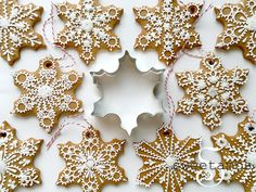 Learn how to make snowflake cookies in this tutorial by SweetAmbs