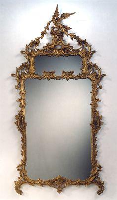 "Grand Phoenix Chippendale Mirror | Carvers' Guild 40 x 80"""
