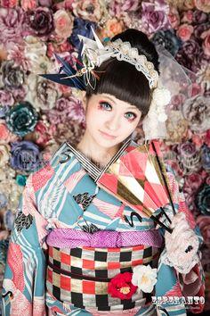 #着物 レトロモダン kimono
