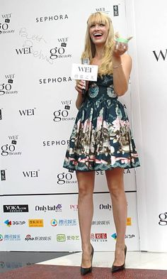 Actress Beth Behrs attends WEI Beauty International promotional event at Sephora store on July 17 2013 in Shanghai China