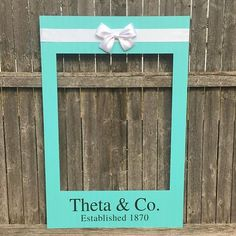 Breakfast at Tiffanys Themed PhotoBooth with Satin Bow New listings just went up! Who's having a party soon?! Tag them below!! Our frames are perfect party prop! Click the link in our profile to get yours custom made. Choose any hashtags emojis etc. http://ift.tt/2DBQ3ok . . #babyshower #selfieframe #photobooth #photoboothframe #babyshowerdecor #decor #birthday #sweet16 #wedding #babyshower #socialmediaframe #weddings #photoframe #bridalparty #photoboothprops #bacheloretteparty…