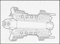 πλοίο 001 Boat Crafts, Spring Activities, Diagram, Image, March, Pirates, Train, Patterns, Summer