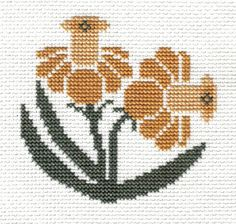 This is from -- Prairie Schooler's Garden Blooms - 1 of 8 designs. Mini Cross Stitch, Simple Cross Stitch, Cross Stitch Samplers, Cross Stitch Flowers, Cross Stitching, Cross Stitch Embroidery, Hand Embroidery, Cross Stitch Designs, Cross Stitch Patterns