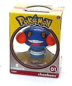 Pokemon 3.5 Vinyl Cheebees Figure - Croagunk