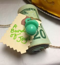 Giving money for a baby shower gift