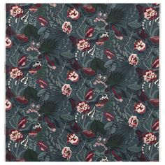 IKEA FILODENDRON Fabric Dark blue/floral patterned 150 cm Cotton is a soft and easy-care natural material that you can machine wash. Floral Vintage, Vintage Space, Thick Curtains, Drapes Curtains, Sewing Curtains, Half Table, Ikea Fabric, Window Table, Recycling Facility
