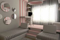 Bedroom/Gray and Pink