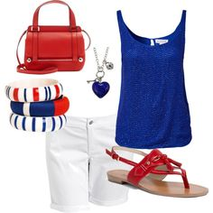 Patriotic Summer Outfit - Polyvore
