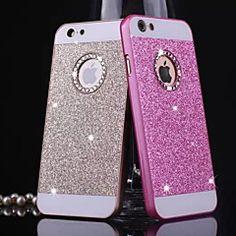 d grande patrón de Bling del metal para el iphone 4 / 4s (colores surtidos)