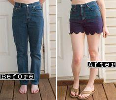 Como hacer unos Pantalones Cortos con Ondas <sub>Paso a Paso</sub> - enrHedando