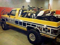 Mini Trucks, Chevy Trucks, Ford Trucks, Pickup Trucks, Chevy Pickups, Motocross Bikes, Vintage Motocross, Motocross Baby, Motorcycle Bike