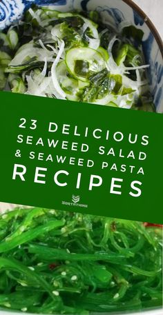 Seaweed salad isn't the only way to enjoy the superfood from the ocean. As well as wakame seaweed salad, try seaweed pasta, kelp noodles, nori crackers and sea grapes. Noodle Recipes, Pasta Recipes, Soup Recipes, Seaweed Salad Recipes, Quick Tomato Soup, Wakame Salad, Edible Seaweed, Sea Weed Recipes, Wakame Seaweed